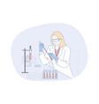 science chemistry analysis coronavirus vector image vector image