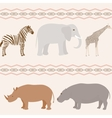 Seamless african animals pattern vector image vector image