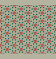 seamless geometric pattern with flowers vector image vector image