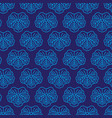 seamless pattern japanise blue ornament vector image