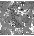 seamless pattern with dreamcatcher moth vector image