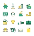 set banking and currency exchange line icons vector image vector image