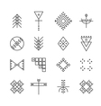 Set of geometric hipster shapes 4r vector image vector image