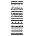 set of geometric pattern brushes in tribal ethnic vector image