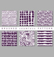 set seamless pattern with brush stripes and vector image vector image