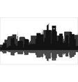 Silhouette of a tall buildings lots vector image vector image