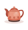 small teapot with handle lid and long spout vector image vector image