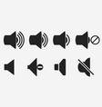 sound volume button music megaphone icon vector image vector image
