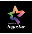 star logo of colored ribbons vector image vector image