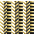 Striped geometric seamless pattern in gold vector image vector image