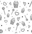sweet pattern seamless pattern with sweets vector image vector image