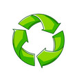waste recycling ecology icon for vector image