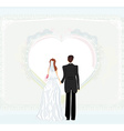 wedding invitation card with a wedding couple vector image