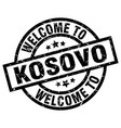 welcome to kosovo black stamp vector image vector image