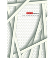 White bars over bright honeycomb structure