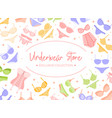 woman underwear store banner or poster vector image