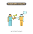 Modern Flat line icon design concept of Investment vector image