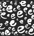 pattern with calligraphy letters e vector image