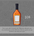whiskey in brown glass bottle card vector image
