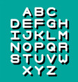 3d font and alphabet vector image vector image
