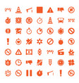 49 stop icons vector image vector image