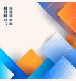 abstract blue and orange gradient color geometric vector image vector image