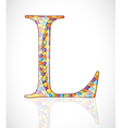 Abstract letter L vector image vector image