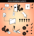 Access Infographic Elements vector image