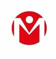 alphabet letter M logo vector image vector image
