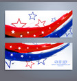 american independence day banners set vector image vector image