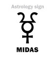 astrology planet midas vector image vector image