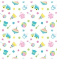 Baby toy pattern vector image vector image