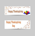 banners for thanksgiving holiday vector image