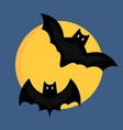 bat cartoon flying wildlife mammal symbol spooky vector image