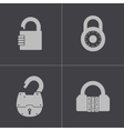 black lock icons set vector image vector image