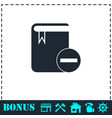 book minus icon flat vector image vector image