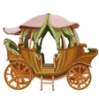 Cartoon carriage Princess on white background vector image