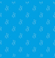 chair pattern seamless blue vector image