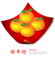 Chinese New Year Mandarin oranges on red cloth