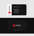 clean black card with the red letter m vector image vector image