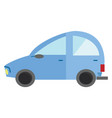clipart a blue passenger car rolling on the vector image vector image