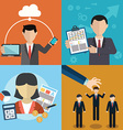 collection of flat and colorful business Human vector image
