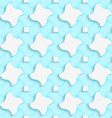 Colored 3D blue stripes and wavy squares vector image vector image