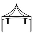 commercial tent icon outline style vector image vector image