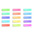 creative of sticky notes vector image vector image