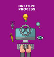 creative process flat vector image