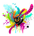 creative template heart background abstract vector image