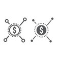 crowdfunding line and glyph icon development vector image
