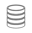 data disk isolated icon design vector image