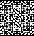 decorative black and white background geometric vector image vector image
